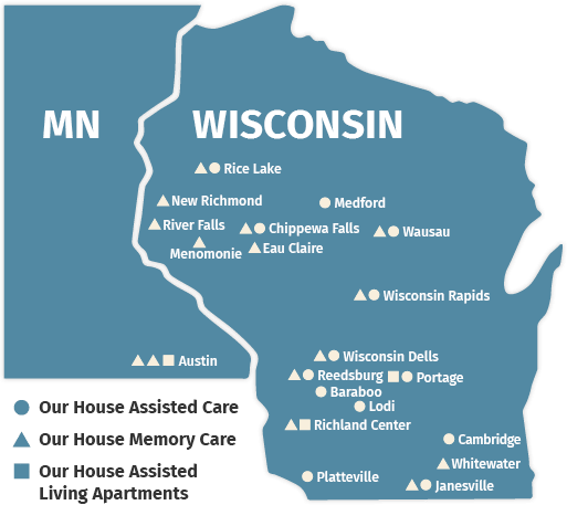 Our House Senior Living Has 31 Beautiful Communities In WI